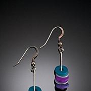 Anodized Aluminum Triple Little Washer Earrings
