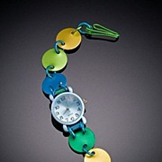 Anodized Aluminum Simple Disc Watches