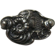 Sterling Silver Petite Nouveau Pin with C Clasp
