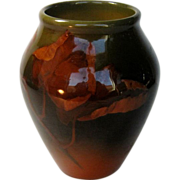 Rookwood Artist Signed Dated 1903 Floral Motif Vase In High Glaze