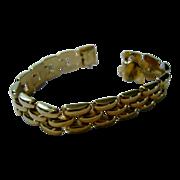14 Karat Yellow Gold Bold Link Bracelet