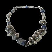 Sterling Lapis Lazuli Massive Artisan Necklace