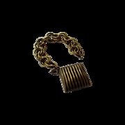 Joseff of Hollywood Charm Bracelet in Distinctive  Russian Goldtones in Original Patina