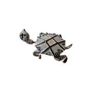 Rare Signed Carnegie Goldtone and Enamel Tremblant Turtle