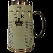 Royal Commemorative The Soverign Tankard Queen Elizabeth I to Elizabeth II