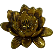 Joseff of Hollywood Water Lily Pin In Russian Goldtone
