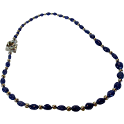 Artisan Tanzanite and Sterling Beads with a Unique Sterling Clasp