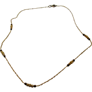 Vintage Very Petite 1930's Necklace with Cultured Seed Pearls at Intervals