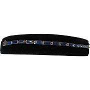 Sterling Silver Lapis Lazuli Segmented Bracelet