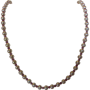 Artisan Pink Sapphire and Cultured Pearls Enhanced by 14 Karat Yellow Gold Clasp