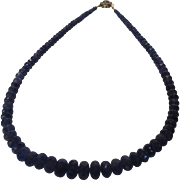 Artisan Tanzanite Necklace With 14 Karat Yellow Gold and Sapphire Clasp
