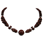 Vintage Cinnamon Glass with Unique Beads