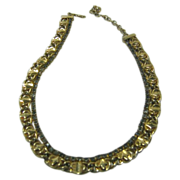 Vintage Hobe Necklace With Grey Tone Crystals