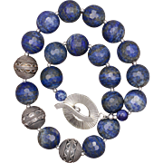 SALE Lapis Lazuli and Silver Necklace