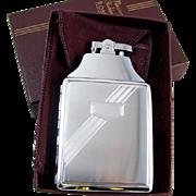 Cigarette case lighter Ronson chrome vintage Art Deco M27 C&E Near Mint Unused Old ...