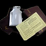 Cigarette case lighter Ronson chrome vintage Art Deco M34 C&E Near Mint Unused Old ...