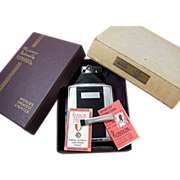 Cigarette case lighter Ronson black enamel chrome vintage Art Deco M57 C&E Near Mint ...