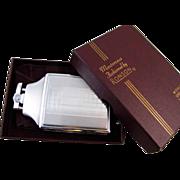 Cigarette case lighter Ronson chrome vintage Art Deco M128 C&E Near Mint Unused Old ...