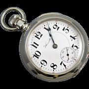 PROFESSIONALLY RESTORED AND SERVICED Antique Edwardian 18 size pocket watch Hamilton 21 jewel