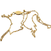 Vintage Baby Snooks 1/20 14k gold-filled child baby sized fine curb link 13-1/4 inch pendant c