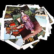 SOLD Set of 32 vintage Japanese Kyoto post card postcard photo paper ephemera Asian Japan Orie