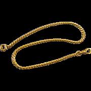 Vintage Art Deco gold filled curb link mens Waldemar pocket watch chain