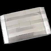 Cigarette case sterling silver vintage Art Deco 1944 Napier 5.3 ounce business card case M140E