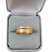 Vintage gold filled wedding band ring signed Uncas size 7