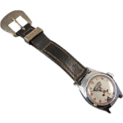 NEEDS SERVICED Vintage Hopalong Cassidy US Time boys cartoon character wrist watch 1950s does