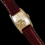 PROFESSIONALLY RESTORED and SERVICED- Vintage Art Deco 14k gold filled Hamilton Boulton B wris