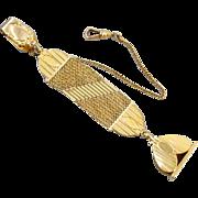 Perfect Valentine Antique Art Deco HEART design gold filled pocket watch signet seal fob signe
