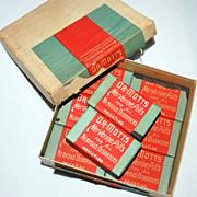 SALE 1901 Dr. Mott's NERVERINE PILLS, Unopened, 8 Packs, Original Store Display Box