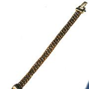 SALE Vintage Signed GOLDETTE Curb Chain and Standard Chain Bracelet