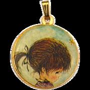 SALE PENDING Vintage FRAN MAR 1971 The Moppets Necklace Pendant