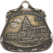 SALE Early Charm Pendant of The Capitol In Washington DC