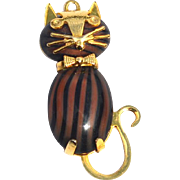 SALE Vintage Hard To Find HOB CO Art Glass Jelly Belly Cat Pendant