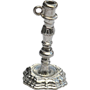 SALE Hard To Find Vintage Hallmarked STERLING SILVER Colonial Williamsburg Candlestick Charm