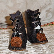 SALE PENDING Antique French Bebe Shoes Marked CM