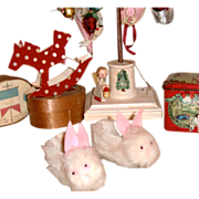 SALE Bunny Slippers for your Dolly