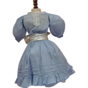 SALE PENDING Antique Sky Blue Cotton Dress - 2 Piece