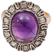 SALE PENDING Victorian Amethyst and Diamond Ring