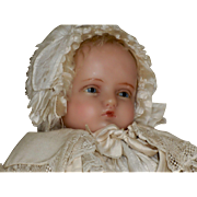 English Poured Wax Doll Christening Outfit Hamley's