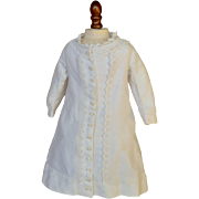 SALE PENDING Antique White Bustle Dress for French Bebe