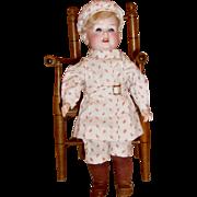 """12"""" German Bisque Boy Doll"""