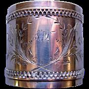 Duhme & Co. Cincinnati, Ohio Coin Silver Napkin Ring