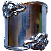 Heavy Art Nouveau Sterling Napkin Ring, Shreve & Co. monogram WCW