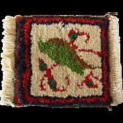 Doll House sized Persian Rug #1 w. Leaf  Salesman's Sample
