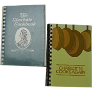 The Charlotte Cookbook & Charlotte Cooks Again, 2 cookbooks