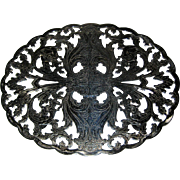 Lunt Silverplate Trivet with Floral Design