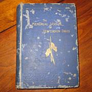 SOLD The Memorial Volume of Jefferson Davis - 1st Edition 1889